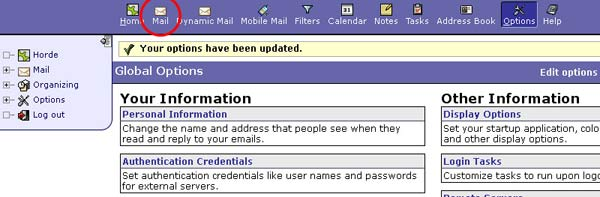 mail update